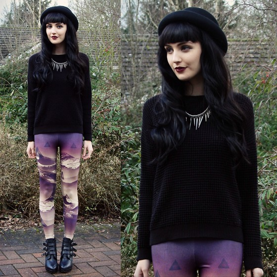 Kayleigh B - Leggings, Topshop Jumper - Mysterious Ways