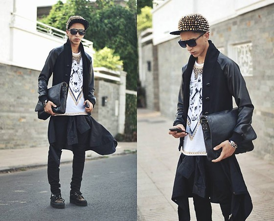 Driss Khadim - Givenchy Black Cover, Choies Hats By, Zara Zr Deathcor, Raf Simons Blackdown Collection, Creepers Leopard, Balmain Skinny, David Jones Bags - ONE MUST ALWAYS BE DIFFERENT