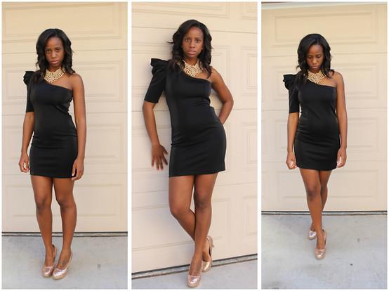 Nakedface Foreign Exchange Black Dress Aldo Necklace Rampage Rose Gold Shoes Little Black Dress Lookbook