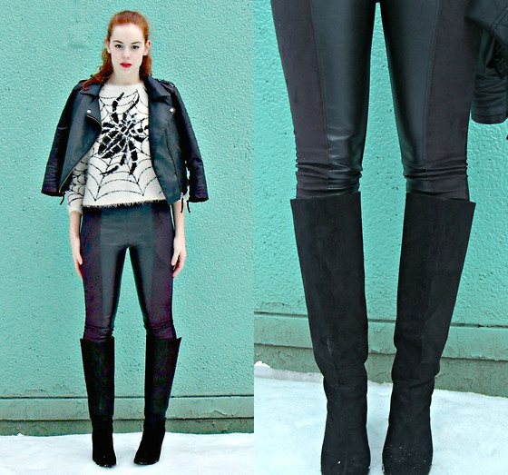 Cole M - Zara Leather Leggings - Spider Webs