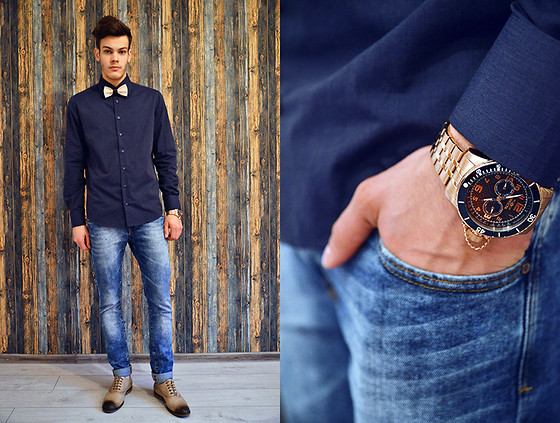 Ştefan Vȋlnoiu - Invicta Watch, Guess? Guess Shirt, Zara Jeans, Why Denis Shoes - Ironandair