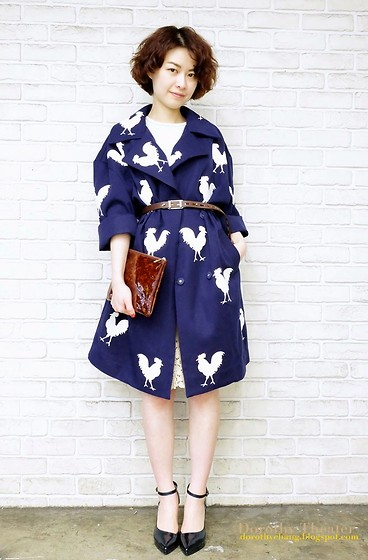 Dorothy Chang - Chicken Print Jacket, Bitchy Heels - Chic Chicken