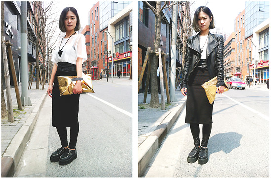 Queena Zhou - H&M Bag, Wip Top, H&M Overskirt, Wip Necklace - The Sun