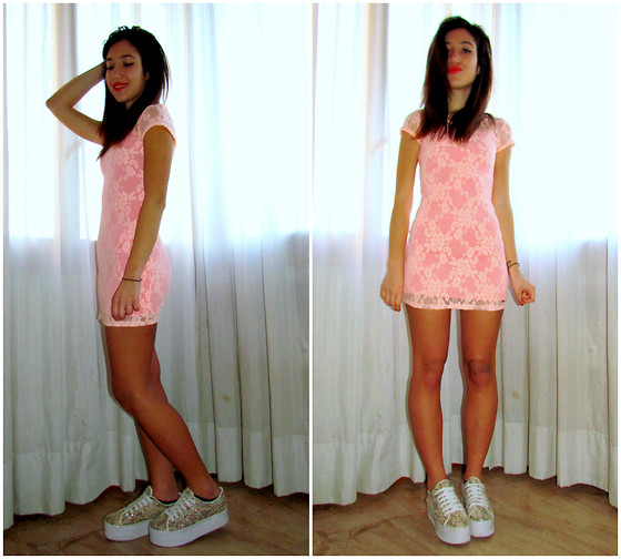Francesca Schiavoni - Hollister Co. Lace Dress, Jeffrey Campbell Lace Flatform - Twenty Five.