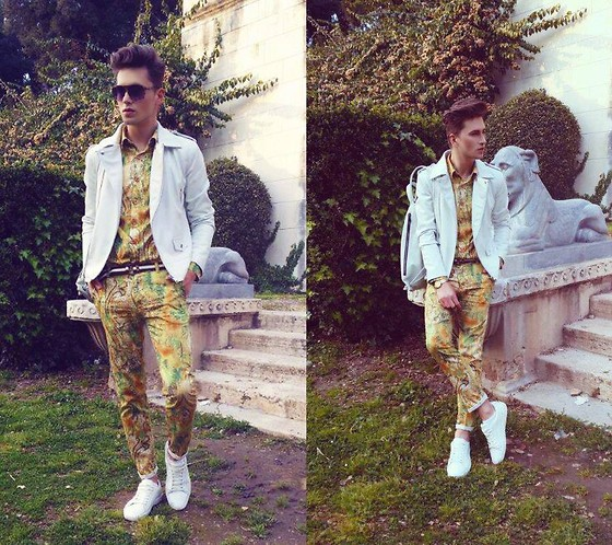 Łukasz Omiotek - Trousers ,Shirts Designed By Myself, Zara Bag , Jackets, Sunglasses Carrera - VILLA BORGHESE