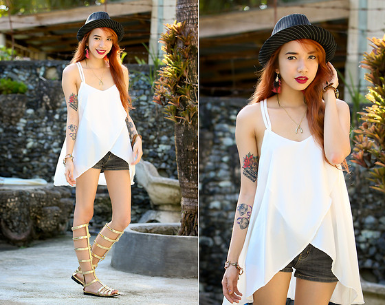Wicked Ying NEW - Vaintage White Top And Shoes, Li's Closet Wishbone Necklace - You Keep Coming Back Again
