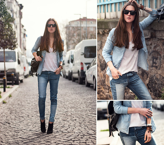 Katerina Kraynova - Oasap Top, Persun Jeans - Denim MIx #3