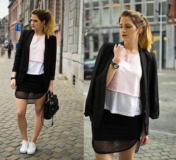 Catherine V Boyfriend Blazer Pastel Crop Top Zara T