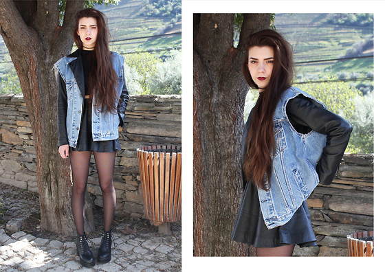 CLAUDIA Holynights - Levi's® Vintage Denim Vest, Pepe Jeans Leather Jacket, Wholesale7 Chunky Boots - And all the roads we have to walk are winding