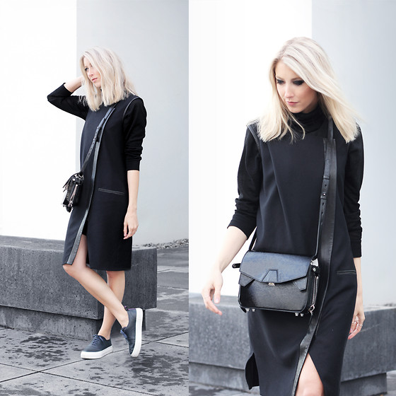 Joyce Croonen - Helmut Lang Dress, Eytys Sneakers, Alexander Wang Bag, H&M Turtleneck - Helmut Lang dress