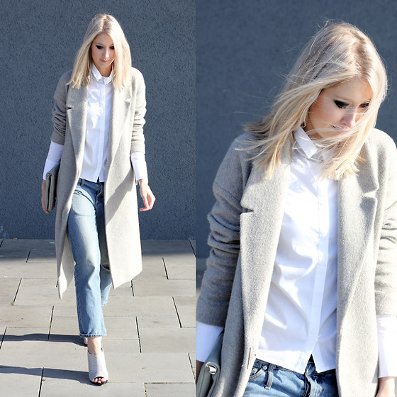 Joyce Croonen - Cos Coat, Costes Blouse, Acne Studios Jeans, Alexander Wang Heels - Basic office look