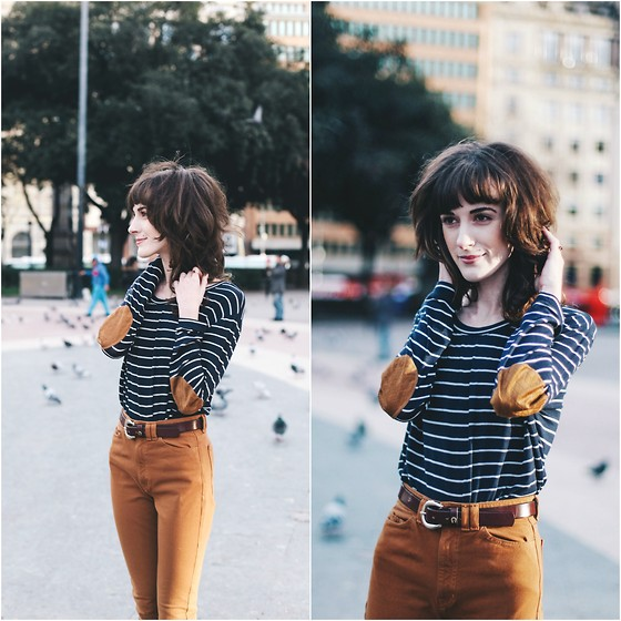 Kiana Mc - Zara Shirt, American Apparel Pants - Barcelona Stripes