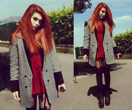 Maria Rondinella - Choies Dress, Choies Jacket, Jeffrey Campbell Boots - SUNDAY MORNING