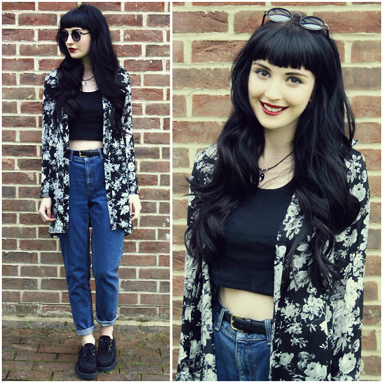 Kayleigh B - Laundry Boutique Winter Floral Shirt, Romwe Sunglasses - Changes