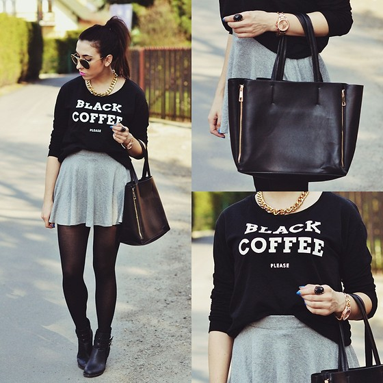 Pam S - Chic Wish Bag, Stradivarius Sweatshirt, Bershka Skirt - Black coffee, please.