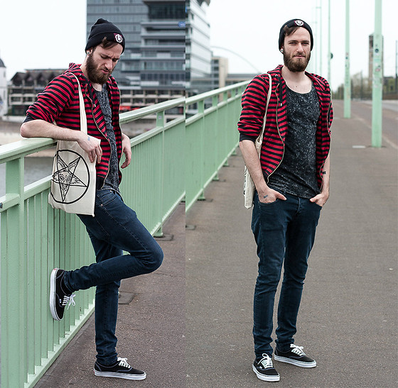 Marc Z Vans Black, H&M Skinny Jeans, Fuchsteufelswild