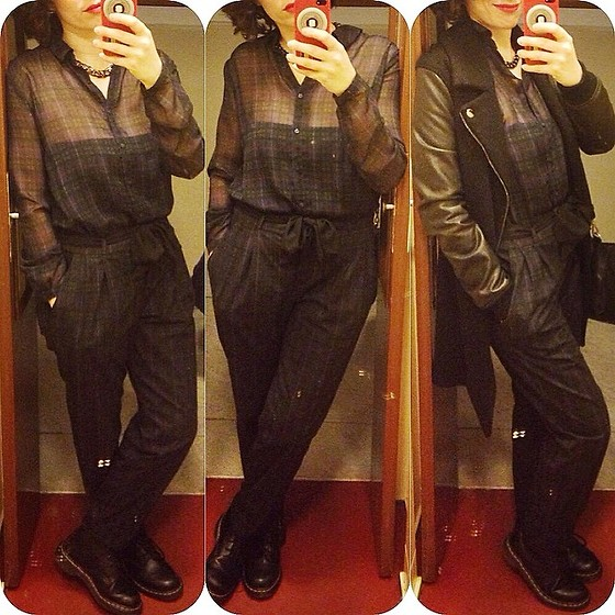 Pippi F. - Zara Jumpsuit, Dr. Martens Boots, Zara Coat - Where is the toilet, please?
