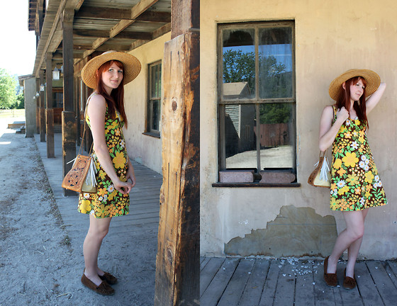 Jamie Shields - Minnetonka Moccasins, Vintage Dress - Wild Woman