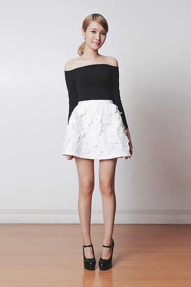 Tricia Gosingtian - Chic Wish Skirt, Romwe Top, Emoda Wedges - 040414