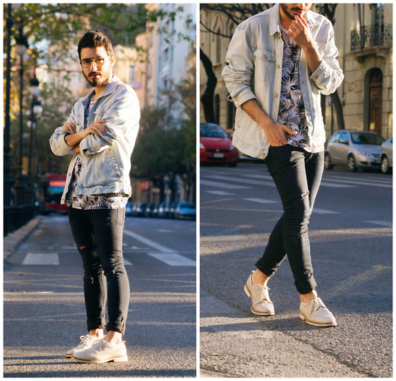 Charlie Cole - Bershka Denim Jacket, Bershka Print T Shirt, H&M Jeans, Zara Oxford Shoes - Sunset