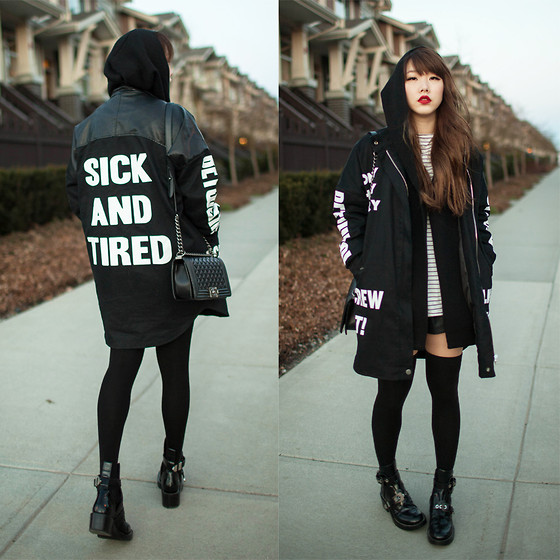 Ivy Xu - Stylenanda Jacket - Sick and tired