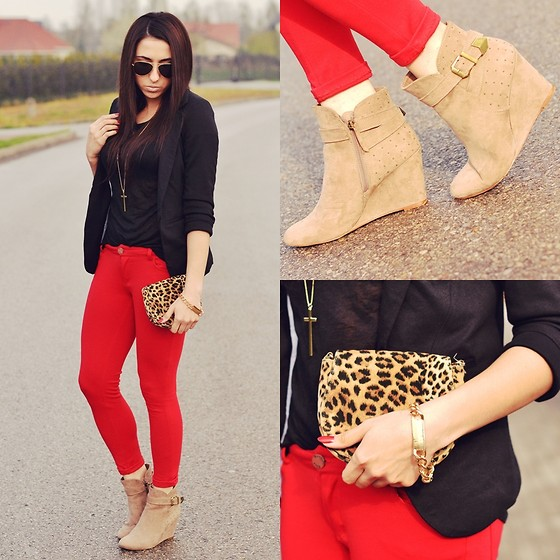 Pam S - Romwe Jacket, Zara Pants - Leopard bag