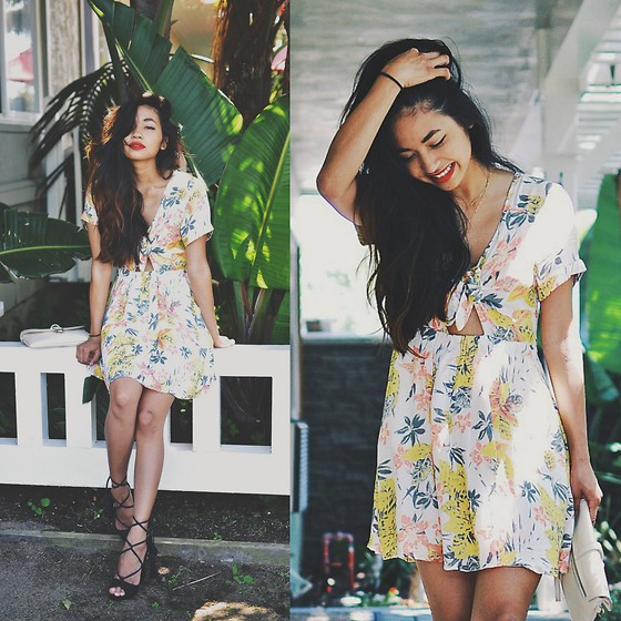 Heliely Bermudez - Jeffrey Campbell Avanna Heels, Free People Part Time Lover Dress - Free People x Helielyb