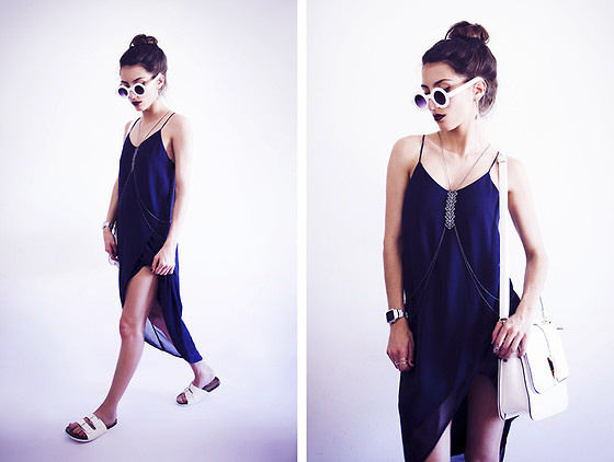Sofia Reis - Zerouv Sunnies, H&M Dress, Lamoda Bag, Primark Sandals - BLUE MILE