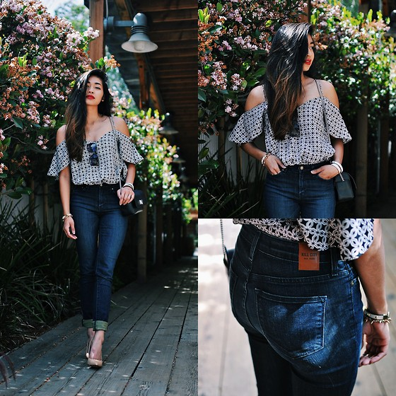 Heliely Bermudez - Kill City Hi Wire Jeans, Asos Blouse, Guess? Nude Heels - Feelin' Brand New