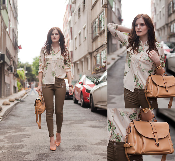 Viktoriya Sener - Black Five Shirt, Zara Pants, Zara Pumps, Rosewholesale Bag - GREEN VIBES vol. 2