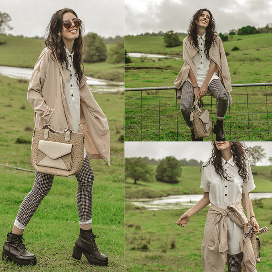 Elle-May Leckenby - White Shirt Dress, Drape Parka Coat - Somewhere from a dream