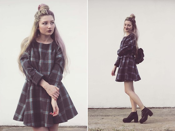 ♡Anita Kurkach♡ - Romwe Dress, Topshop Bagpack, Wholesale7 Shoes - Everybody wants to rule the world.