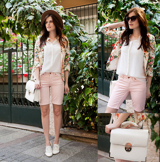 Viktoriya Sener - Mart Of China Floral Blazer, Zara Silk Blouse, H&M Shorts, Forever New Bag, Braska Brogues, Wholesale Celebshades Sunnies - GARDEN