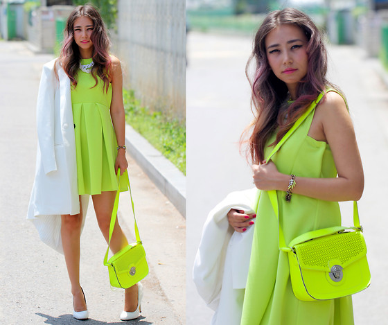 Queen Horsfall - Lovelywholesale Green, Chic Wish Neon, New Look Neon Mini, Zappos Bride White - Freshness