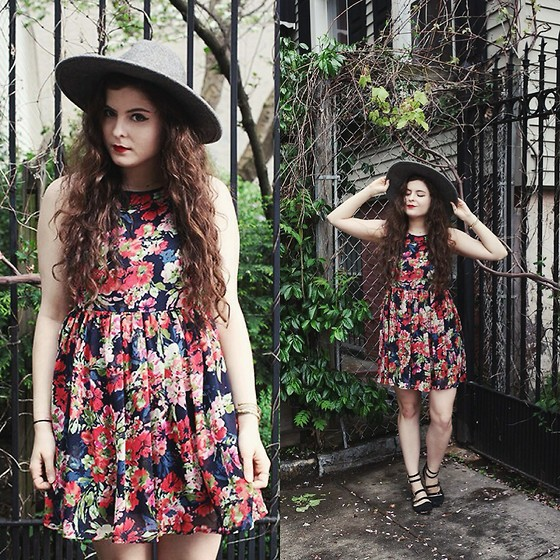Noelle Downing - Others Follow Floral Dress, Thrifted From Crossroads Trading Flats - You're my only friend
