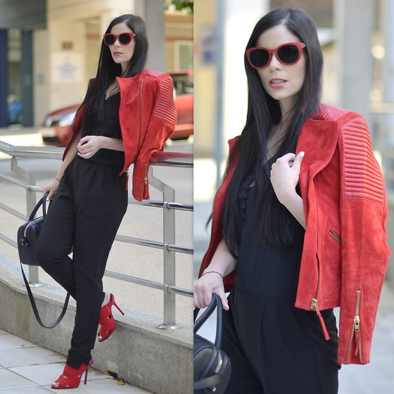 Mango Jacket, Jumpsuit, Zara Shoes