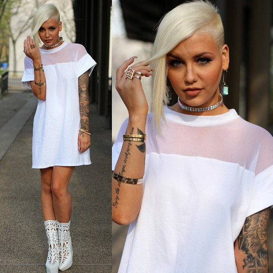Samii Ryan - Missguided Dress - White on White (Lookbook x Missguided collab)