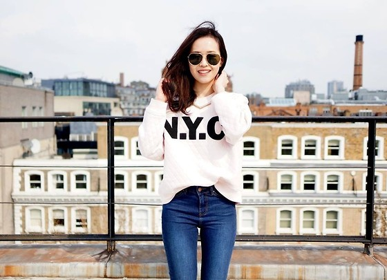 Sher-Fyonn Chua - H&M Jumper, New Look Jeans, Asos Shades, H&M Necklace - The Big Apple