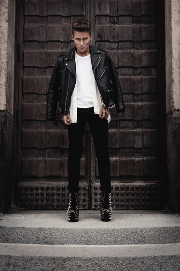Dennis M. - Acne Studios Leather Jacket, Jeffrey Campbell Heels - WEAPONS