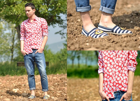 Davide Peretti - Department 5 Shirt, Superglamourous Espadrillas - Field of Daisies