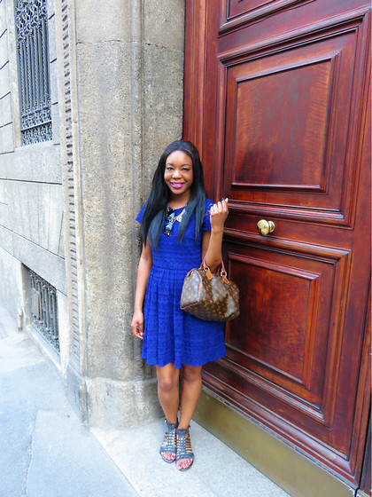 Laura C - Louis Vuitton Bag, Oasis Dress - Milan outfit 4 // StylishVue