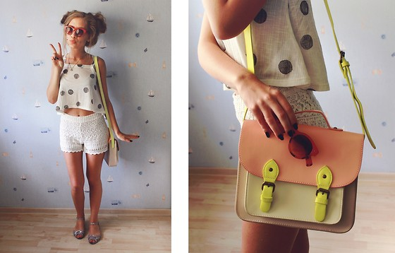 Arina S - Zara Top, Pull & Bear Shorts, Bershka Bag - 190614