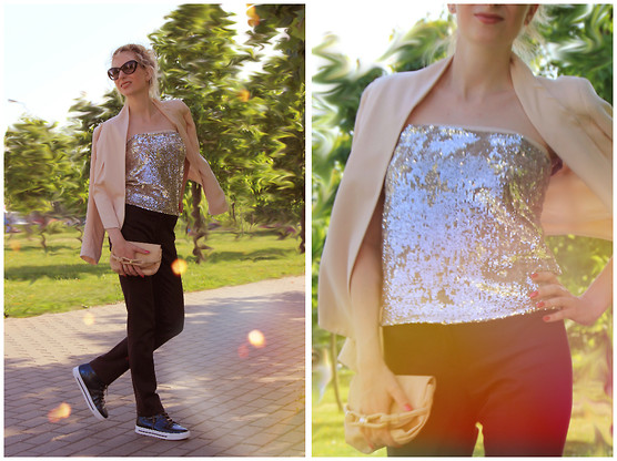 Lise Kapris - Marc By Jacobs Sneakers, Topshop Jacket - Shine bright like a diamond!