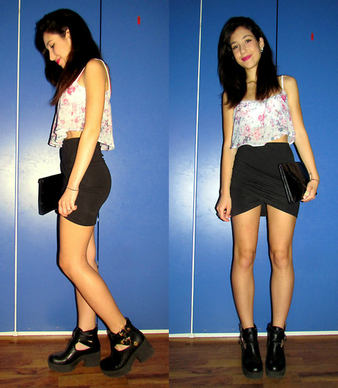 Francesca Schiavoni - Bershka Crop Top, H&M Skirt, Diesel Pochette, Made In Italy Boots - Twenty Eight.
