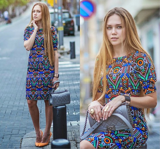 Alena Vorontsova - Zolotoy Pesok Dress, Sergio Rossi Shoes, Topshop Rings, Topshop Rings, H&M Earrings - Inspiration