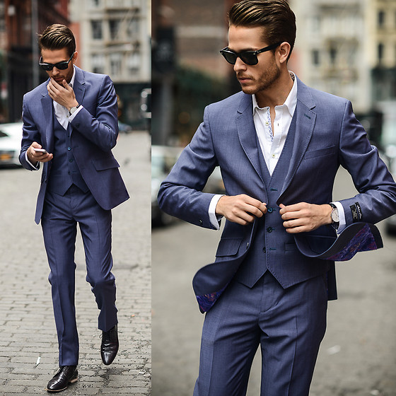 Adam Gallagher - Ted Baker Suit - English Lavender