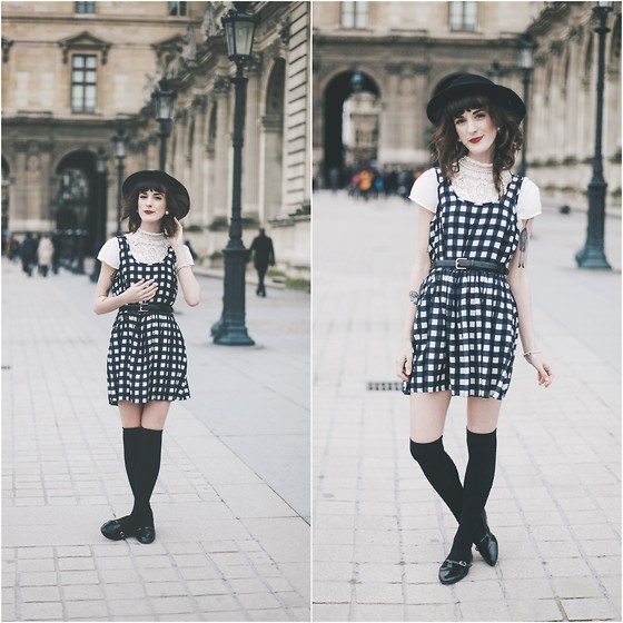 Kiana Mc - Vintage Hat, Forever 21 Dress - A Saturday Afternoon in Paris