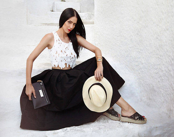 Konstantina Tzagaraki - Top, Skirt, Flats, Marni Purse - Here's to a vacation of no regrets..