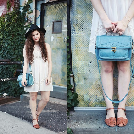 Noelle Downing - Chic Wish Vintage Inspired Satchel, Bass Sandals, Black Swan Lace Dress - Our love was lost