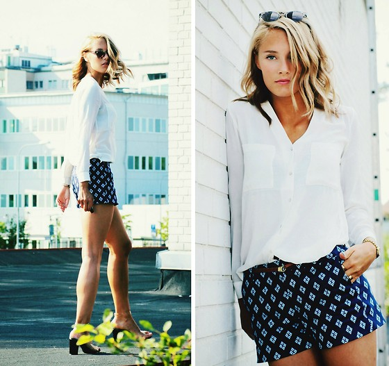 Petra Karlsson - Glasses, H&M Blouse, Zara Shorts - Rooftop